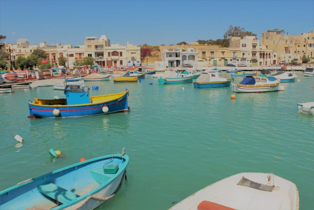 Fishing boats in a Birżebbuġa harbour