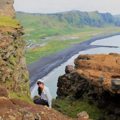 Me on a cliff in Iceland
