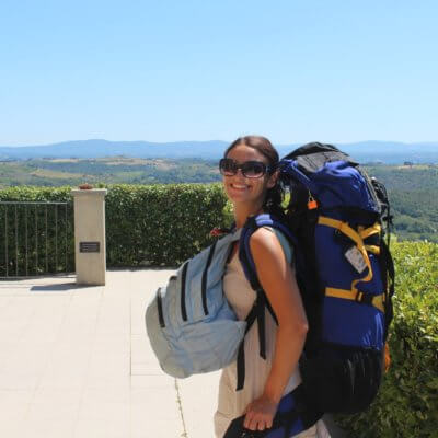 Me backpacking Italy