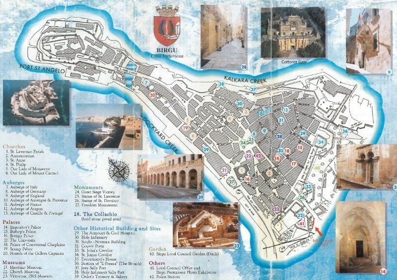 Local map of Birgu