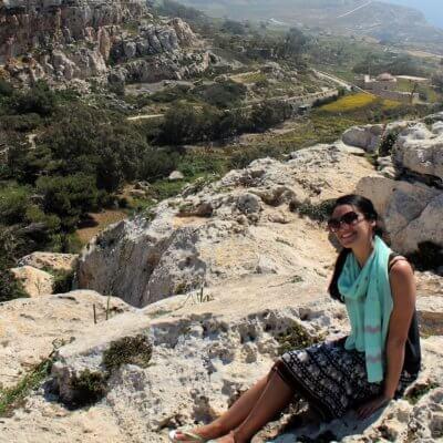 Marthese Fenech on Malta Cliffs