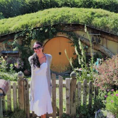 Me at Hobbiton in New Zealand