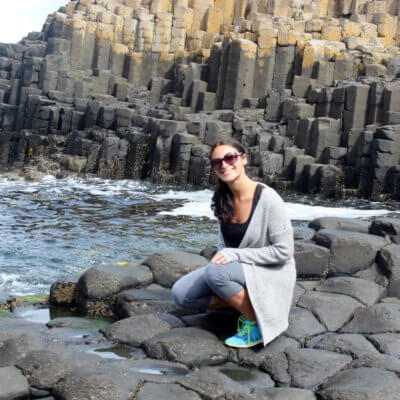 Me at the Giant's Causeway, Ireland