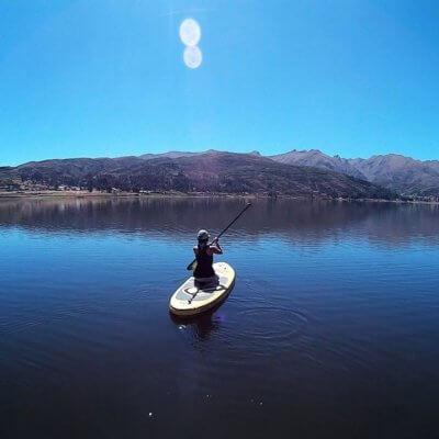 Me paddleboarding