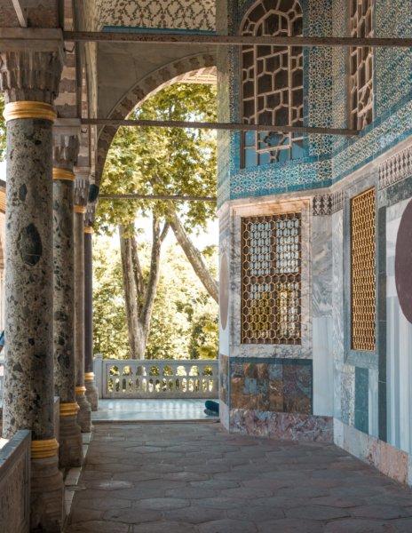Tiled Walls of Topakpi Palace