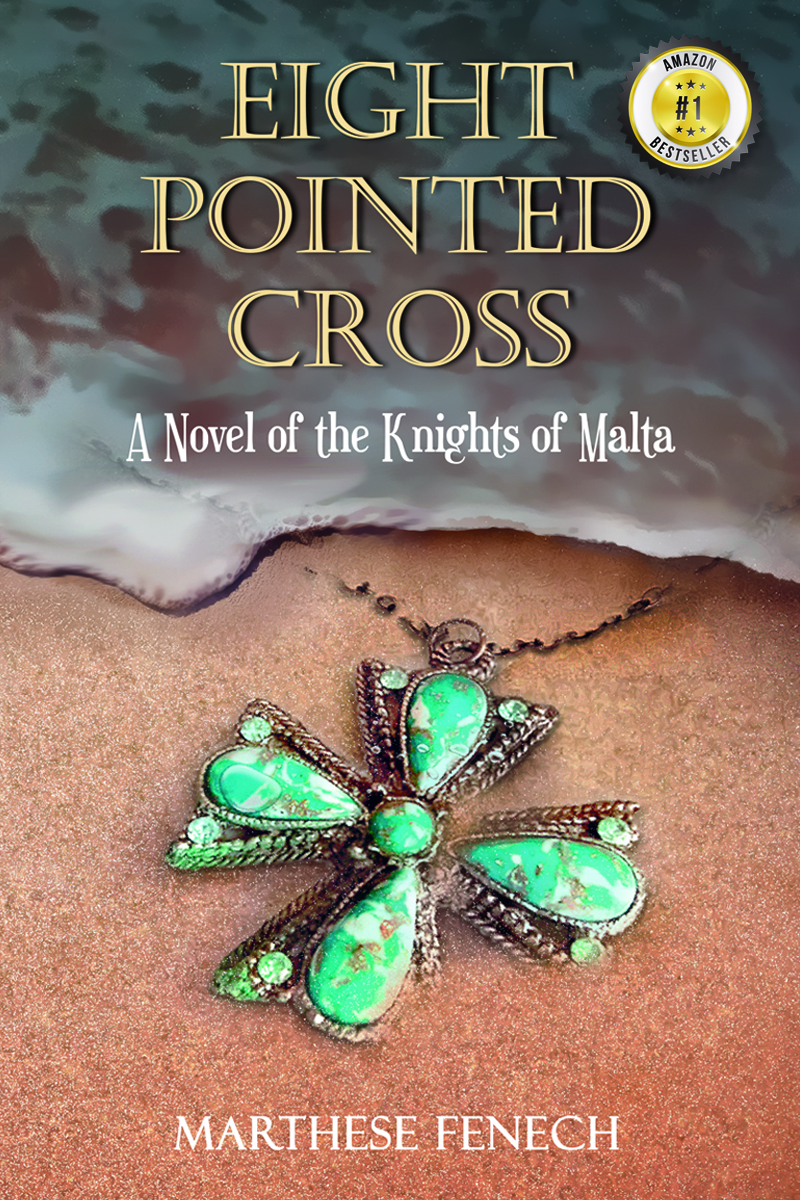 Eight Pointed Cross cover with number one bestseller sticker on top right