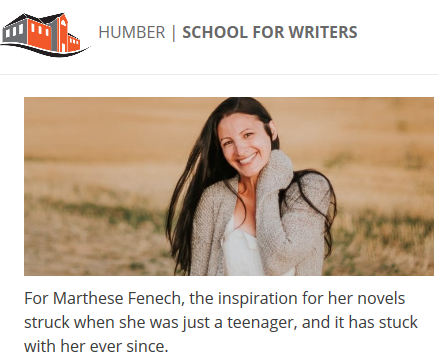 Humber School for Writers News