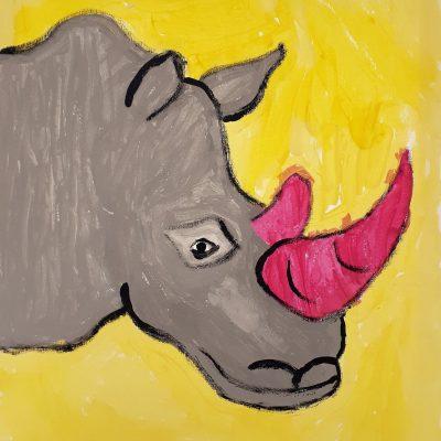 rhino canvas yellow