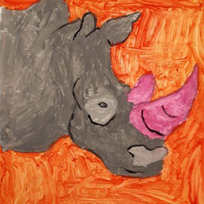 rhino canvas orange