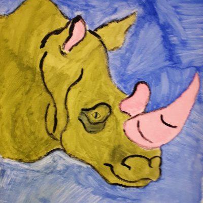 rhino canvas green rhino