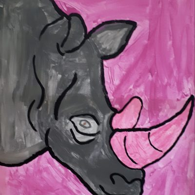 rhino canvas lilac