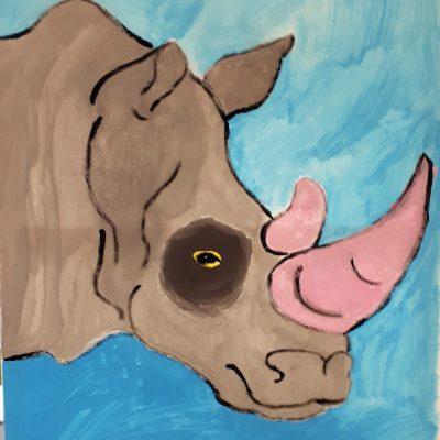 rhino canvas blue